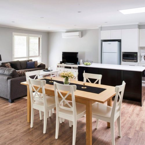 River City Constructions open plan living kitchen areas