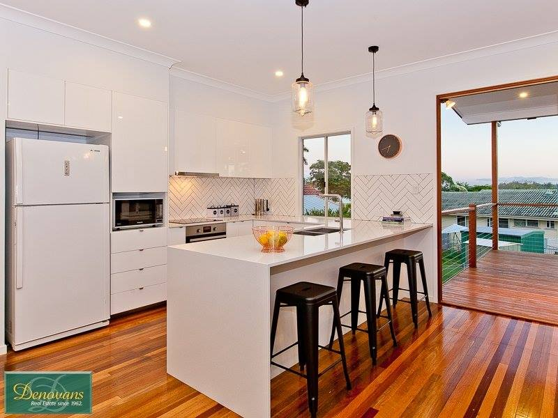 River City Constructions Belclare kitchen timber and white