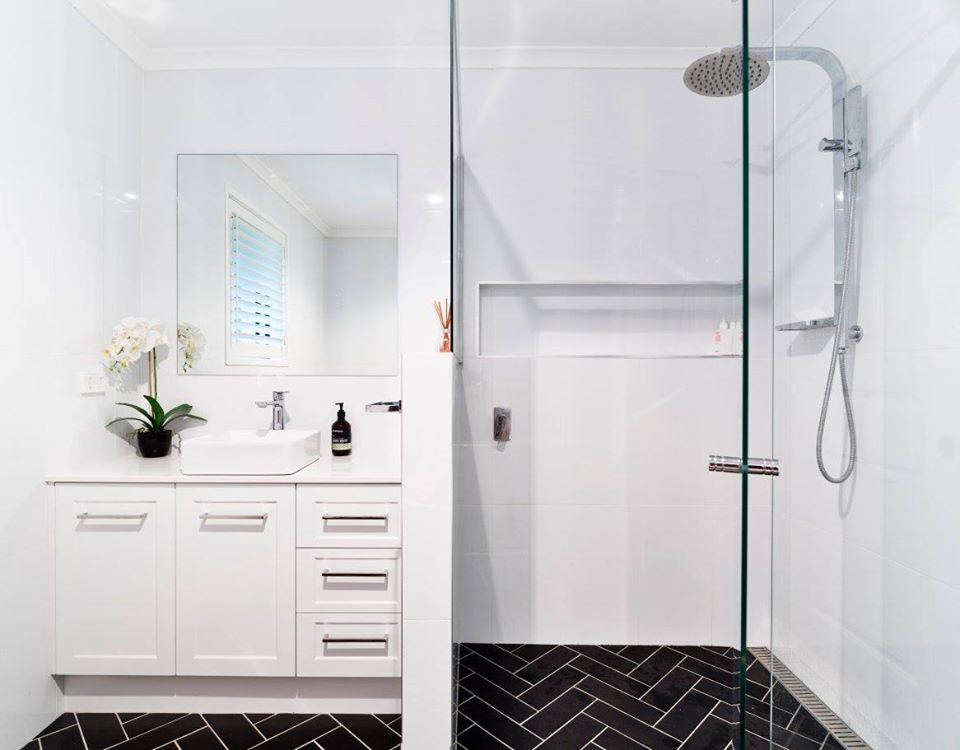 River City Constructions Belclare black and white bathroom