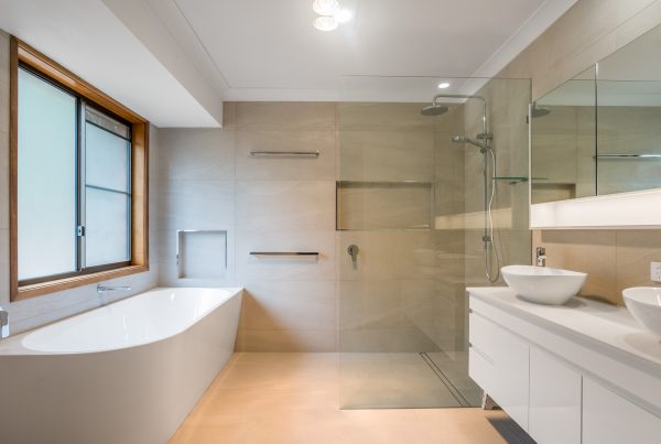 river city constructions bathroom dual sinks, shower and bathtub