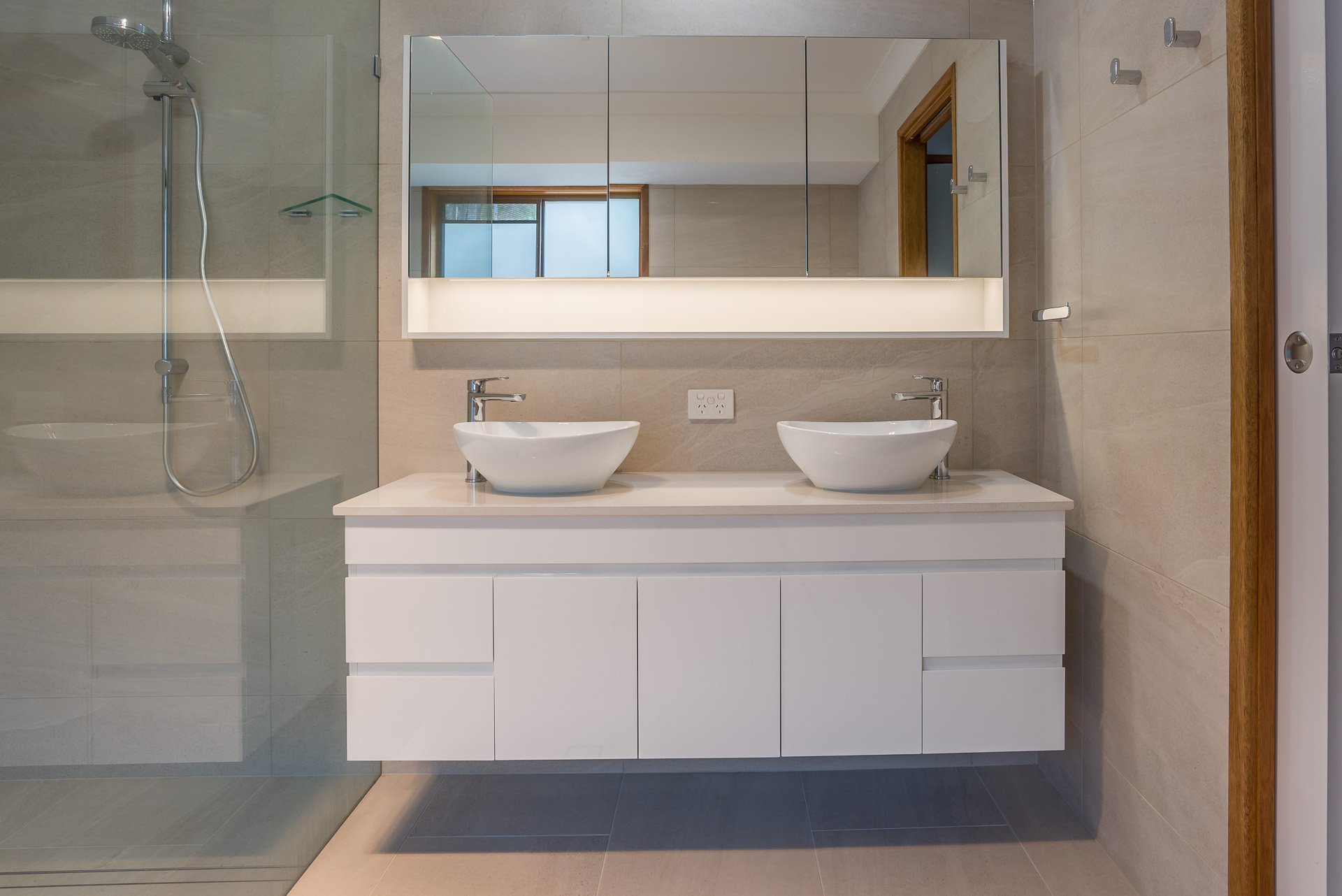 river city constructions dual sink bathroom renovation