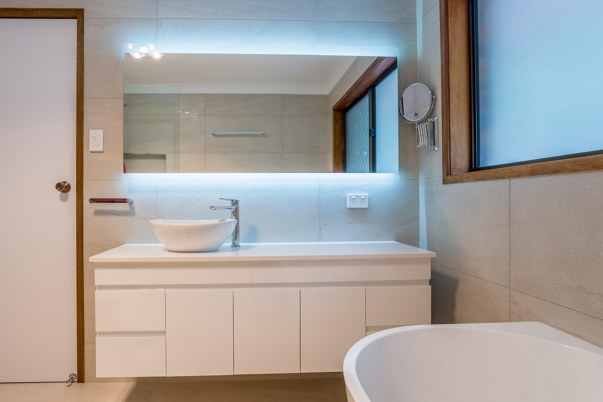 river city constructions bathroom upgrade neutral tones